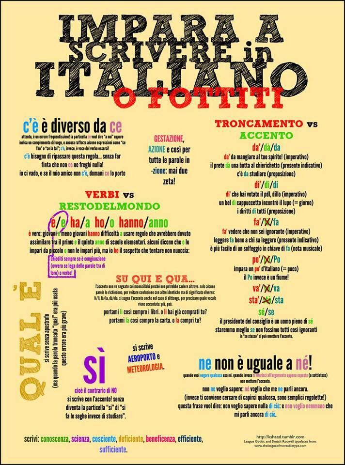 Aprender Italiano. Meta por cumplir.