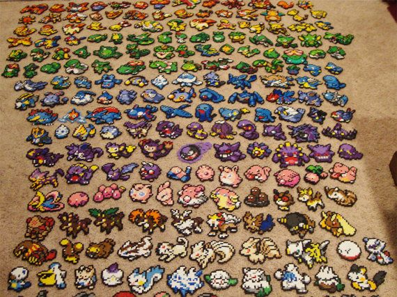 Pokemon Perler Bead Sprite Set by ToughTurtles