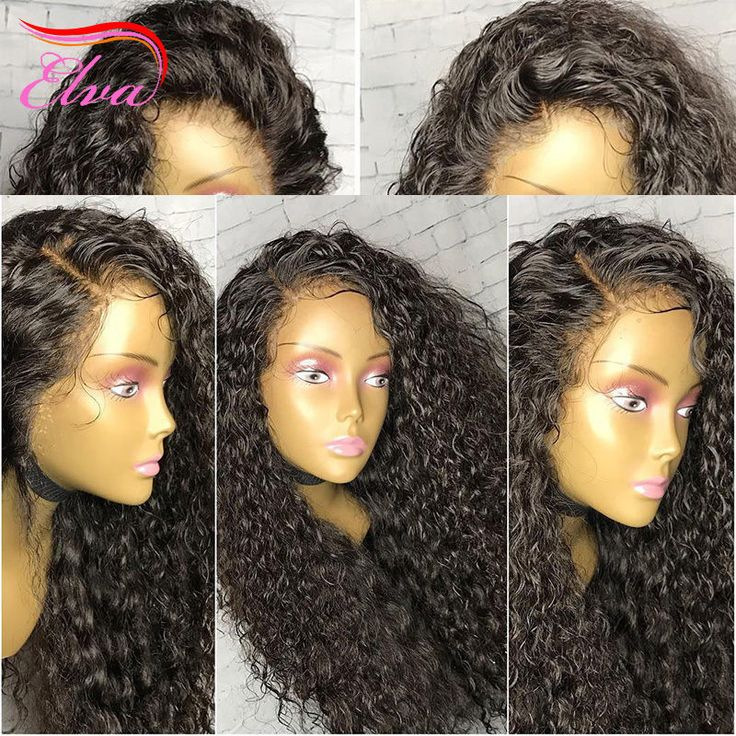 Virgin Human Hair Full Lace Human Hair Wigs Curly Lace Front Wigs With Baby Hair