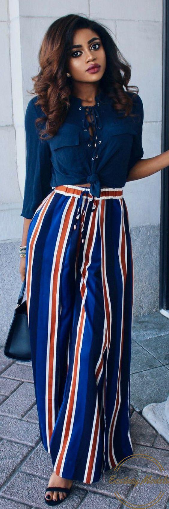 Wide Leg Pants // Fashion Look by Barbra Ray