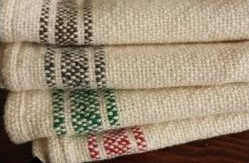 Dish Towel, Handwoven. Lynne Chick handweaves these soft kitchen towels for us in Maine using domestic cotton. They are beautiful, useful, and a comfort to touch.    Order at: www.commongoodproducts.com.