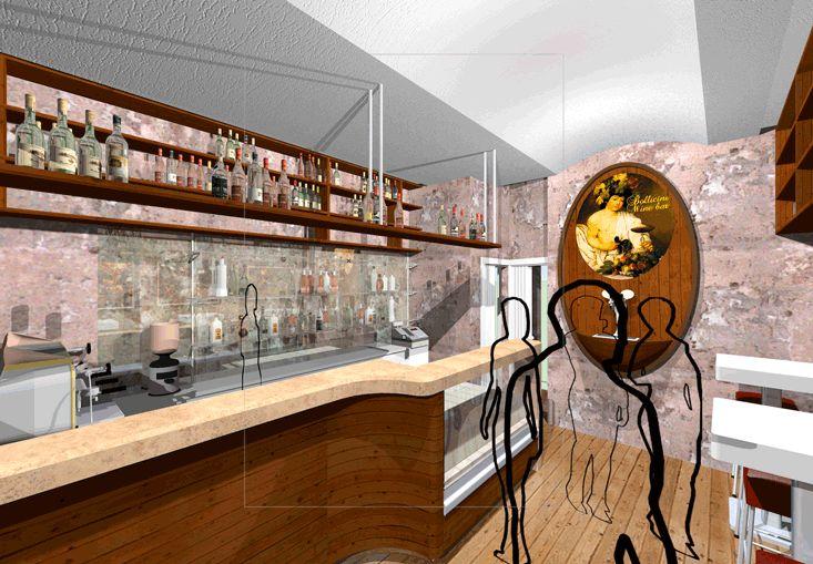 Progetto di arredo bar a Roma