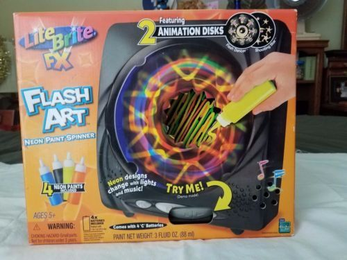 Lite-Brite-FX-Flash-Art-Neon-Paint-Spinner listed 9/9/16 for $100.00