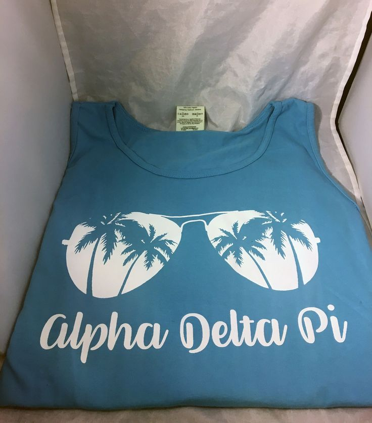 Alpha Delta Pi ADPI Sorority Sunglass Tank Top- Sapphire - Brothers and Sisters' Greek Store