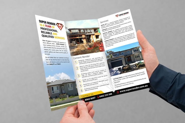 Flyer Inside Design for SuperRender Construction