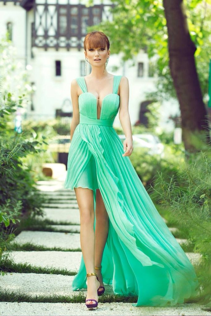 Cristallini sexy and elegant silk dress