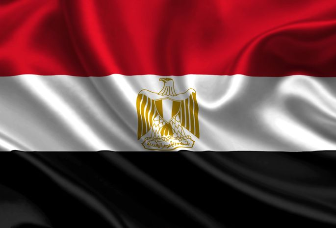 Egypt, Satin, Flag