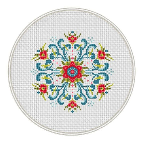 Vintage Design Cross Stitch Pattern, cross stitch chart, cross stitch PDF, russian folk, Instant Download, Free shipping, MCS123