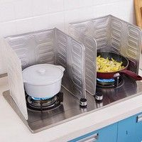 Wish | Kitchen Tools Cooking Insulate Splash Proof Oil Removal Baffle Plate Aluminium Foil Splatter Screens Stove Separate Oil Paper