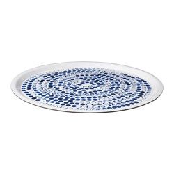 SOMMAR 2016 Tray, white, blue - IKEA