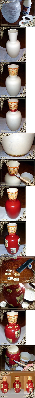 Декупаж - Сайт любителей декупажа - DCPG.RU | Имитация старинной вазы «Китайская красавица»