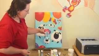 This video is a great place to start if you're new to painting with acrylics on walls and canvases.