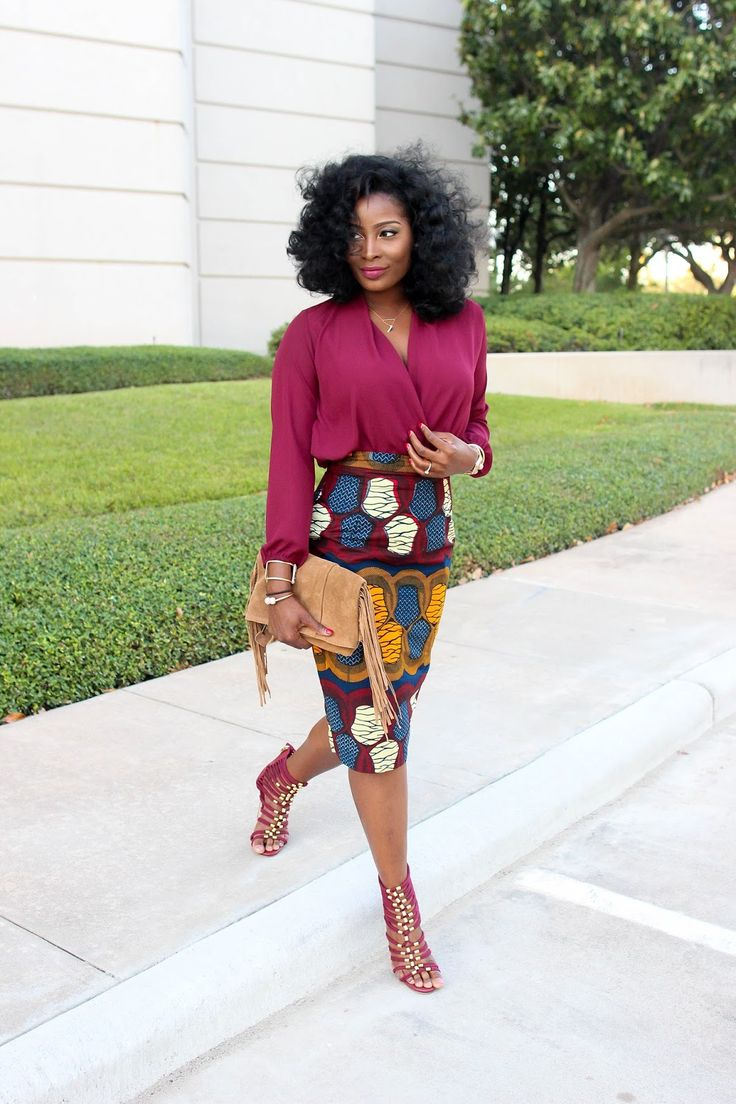Irony of Ashi: Burgundy + Viv Skirt Remix | OOTD | Fashion Blogger | Fashionista | Style | woc fashion blogger | bgki | black girl magic | lace up heels |