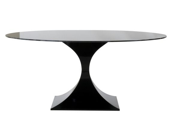Buy Capricorn Dining Table in Gloss Black Finish - Dining Room Tables - Tables - Furniture - Dering Hall