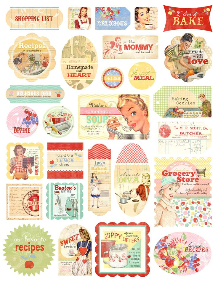 scrapbook retro stickers - Buscar con Google