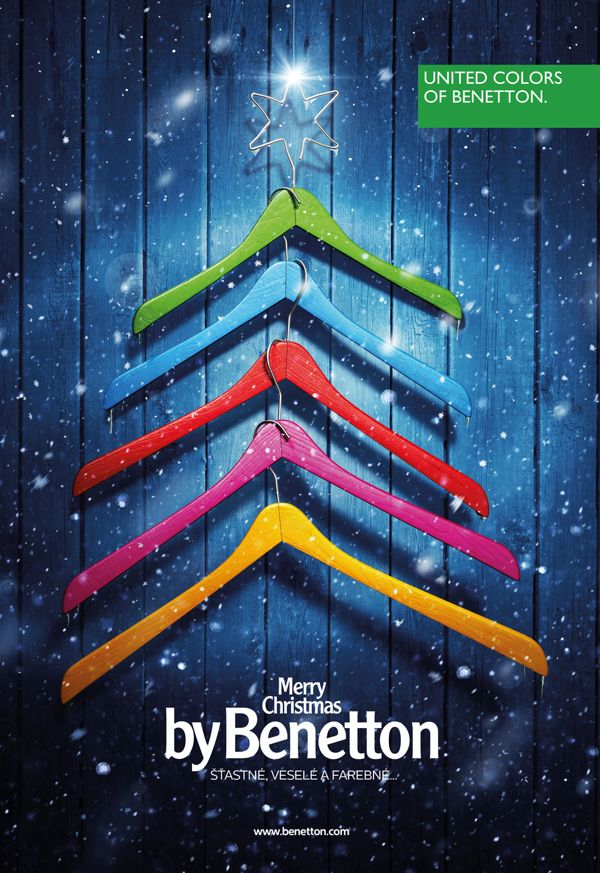 Merry Christmas by Benetton. Benetton Ad by MUW Saatchi & Saatchi repinned by www.BlickeDeeler.de