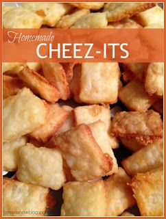 All in All: Pinterest Project: Homemade Cheez It's