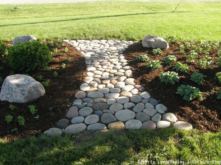 A Stepping Stone Garden Is The Easiest Garden To DIY. This Style Of A Path