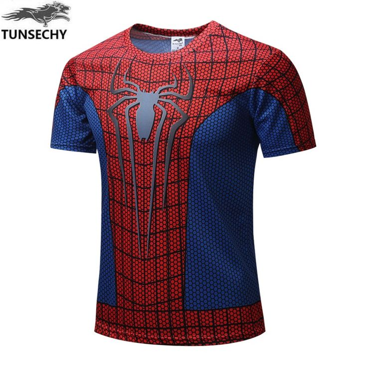 NEW 2017 TUNSECHY Marvel Captain America 2 Super Hero lycra compression tights T shirt Men fitness clothing short sleeves S-4XL //Price: $9.45 & FREE Shipping //     #LiveYoungLiveFree    #Jewelry #OnlineShopping #Shoes #Socks #GiftYourFavouriteItems