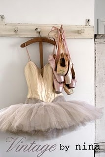 ballerina.... cute think i will do this with shelbys old shoes and tutu