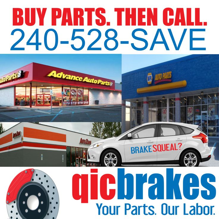 Brake Care in Frederick Maryland. Buy your brake parts then call Qicbrakes to install. Frederick residents have the ability to save up to $500 on brake rotor and pad swap services. Maryland car owners may want to order their brake parts online, they are usually available for pick-up with in a hour after placing order. qicbrakes.com #advanceauto #autozone #napa