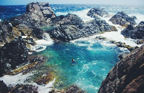 Natural Pool Aruba. Rented a jeep went off roading to the scariest of levels but it's the only way to get there. Oh and went in circles along the way because it is hidden quite well!