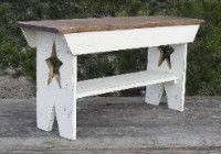 Primitive Country Wood Bench With Stars By Americas Front Porch traditional benches