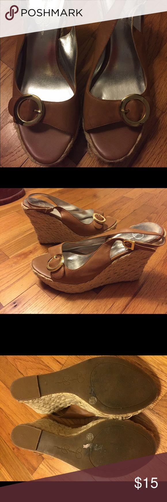Jessica Simpson Wedge Shoes Jessica Simpson Wedge Shoes worn once Jessica Simpson Shoes Wedges