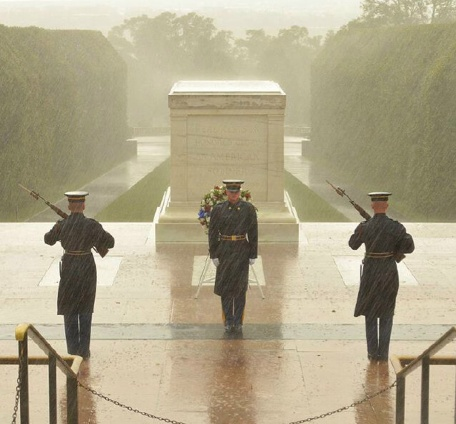 The Tomb is guarded 24 hours a day, 7 days a week. Snow, rain, wind or heat has never stopped the Tomb Sentinels from guarding the tomb for over 64 years.