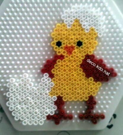 Easter egg hama perler beads by Deco.Kdo.Nat