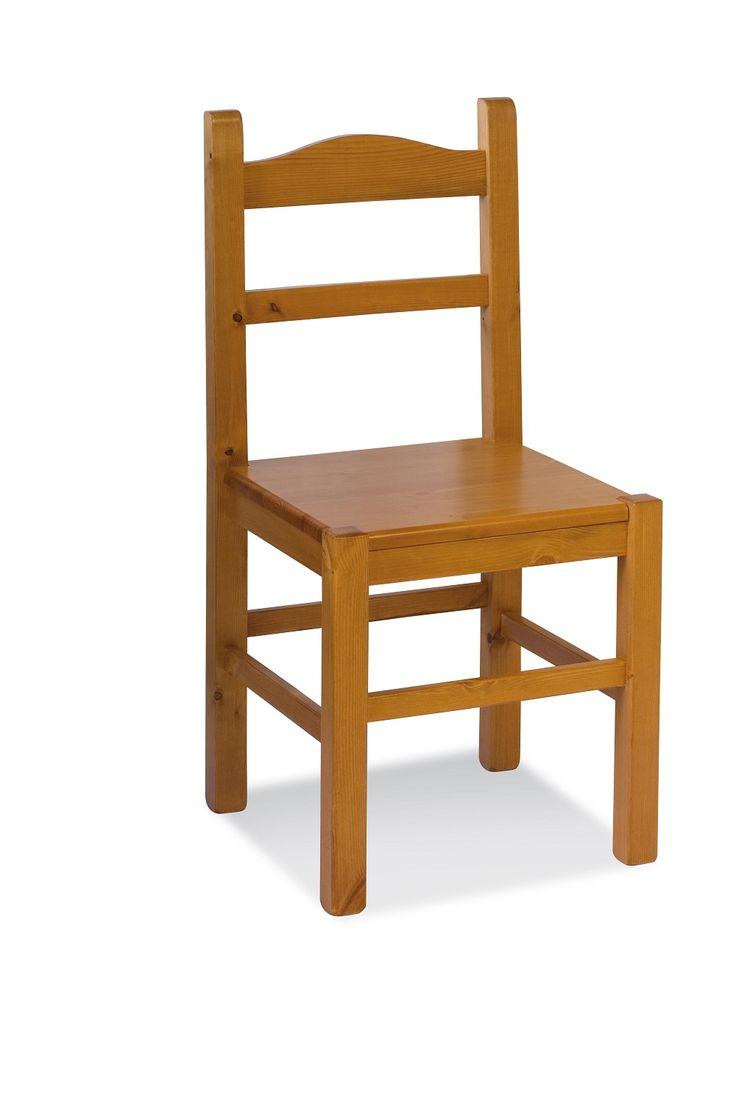 Sedia modello Anita con seduta legno. Costruita interamente in pino massiccio. Disponibile in vari colori. #sedie #mobili #arredamenti #catalogo www.demarmobili.it