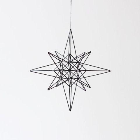 moravian star style himmeli / hanging mobile / modern geometric sculpture