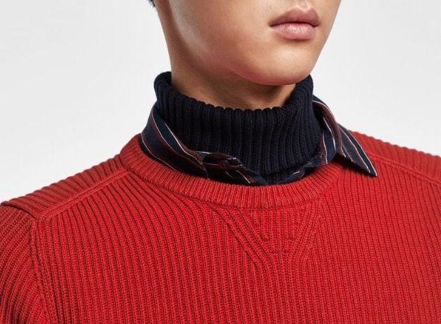 Rollkragenpullover Herren Merinowolle Trend Jugend Pullover
