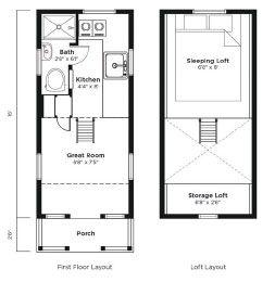 tumbleweed tiny house company floor plans