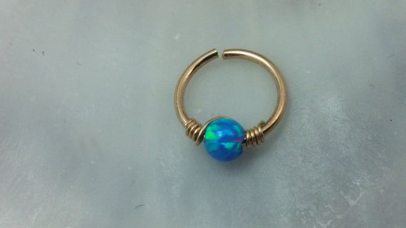 Tiny Hoop Nose Ring - Opal Nose Ring - Septum Nose Ring - Gold Filled Nose Ring - Nose Piercing Ring - Nose Ring - Opal Nose Hoop -Helix by Handmadejewelry2015 on Etsy