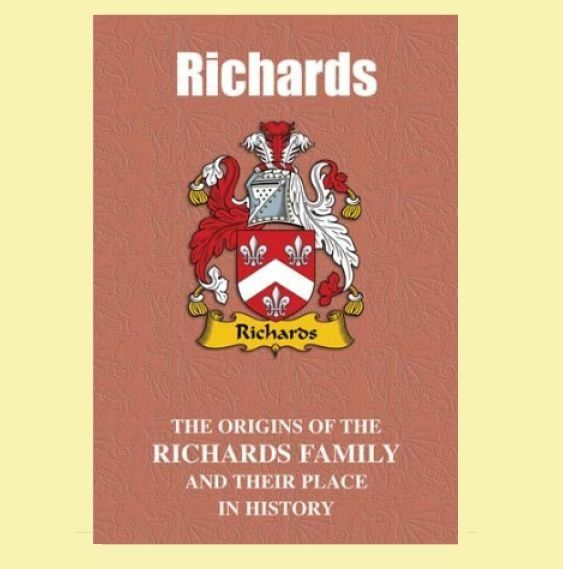 Richards Coat Of Arms History Welsh Family Name Origins Mini Book