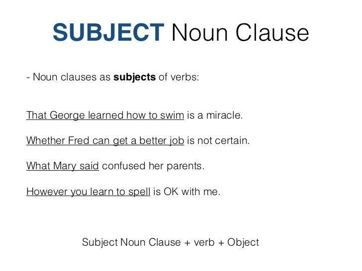 52 best Noun Clauses i...
