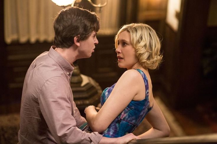 """Meltdown   pic 4 of 5   S.2, Ep. 8   the Bates Motel   Frustrated Norman storms out of the room. Norma stops him on the stairs, begging him not to go, but Norman has had enough. """"I don't trust you anymore and that changes everything,"""" he tells her."""