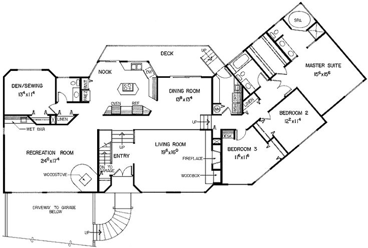 Image detail for three bedroom split level hwbdo68718 for Split entry floor plans
