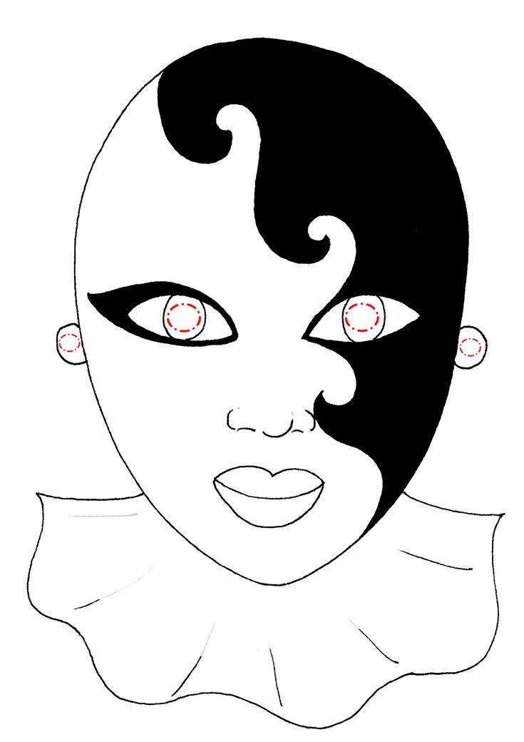 Risultati immagini per maschere di carnevale da colorare e scaricare gratis