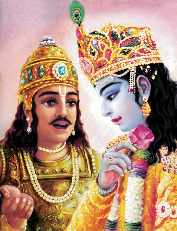 """Arjuna addressed Krishna: """"You are the Supreme Brahman, the ultimate, the supreme abode and purifier."""""""