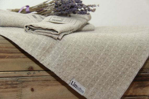 Linen kitchen tea towels by lininline on Etsy