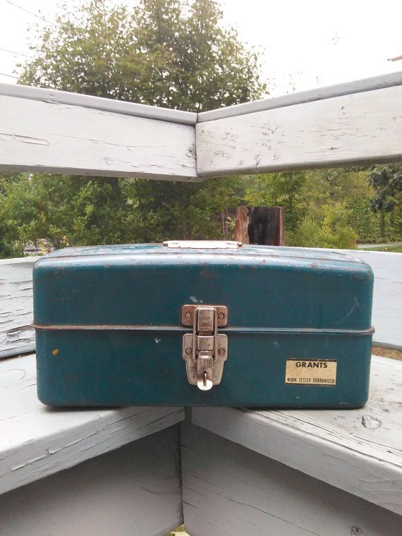 Vintage Tackle box by UpTheAntiqueCo on Etsy