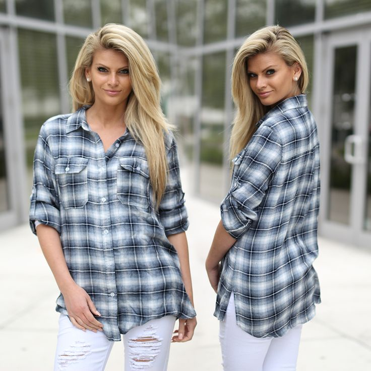 STOP what you are doing, and fall in love with this Gray Flannel Shirt! Sweet and simple gray flannel that goes with everything. Rap around your waist or wear it with your favorite skinny jeans! Perfect for pairing with black leggings and some adorable booties! Check out other cute tops at our trendy online boutique!