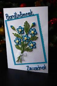 kék virágos üdvözlet