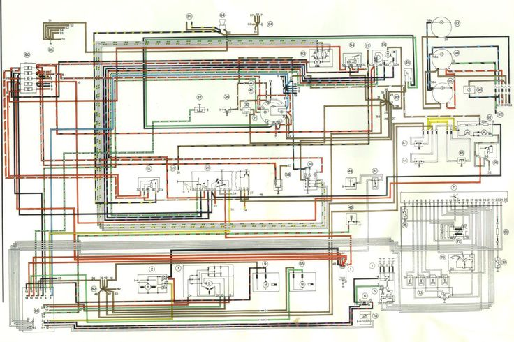 Annotated relay board diagram for 73 porsche 914. For those of you ...