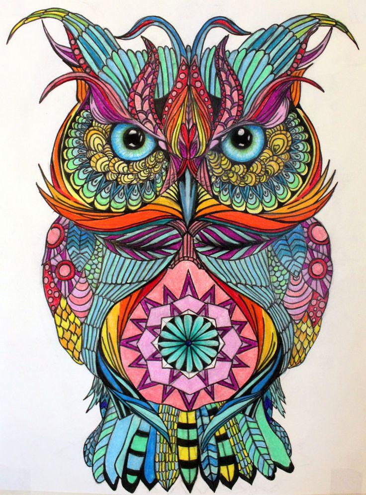 Colorful Owl Room Decor