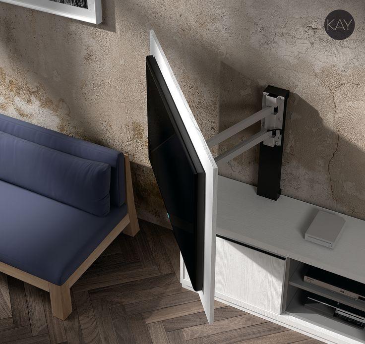 https://flic.kr/p/rhjant | Muebles TV, muebles para la televisión, Paneles tv giratorios | Colección Kay salones comedores modernos, muebles para la televisión, mueble tv giratorios, paneles tv giratorios.