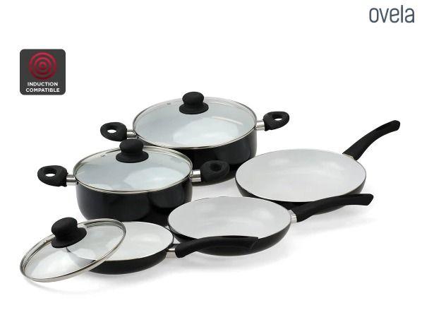 Ovela 8 Piece Ceramax Ceramic Cookware Set Cookware Cookware