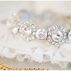 Vintage eternity band alternating octagonal halo and round wedding band | Photo by www.joshandrachelbest.com